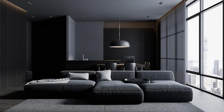 salon-negro-gris-sofa-modular