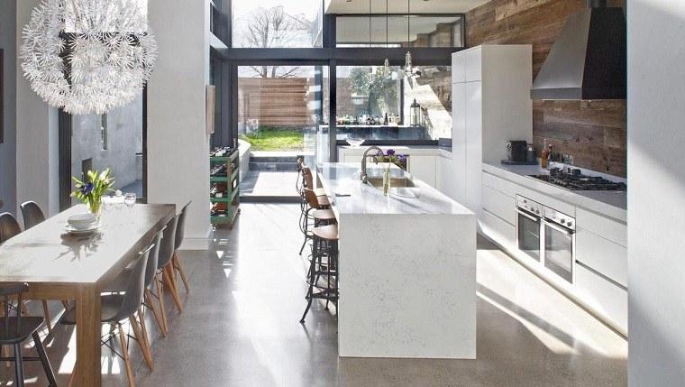 suelo gris-cocina-comedor-gris-ideas