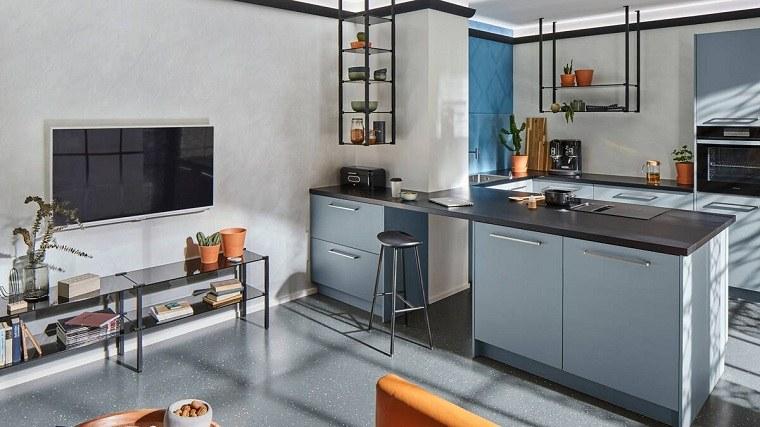 suelo gris-cocina-diseno-industrial