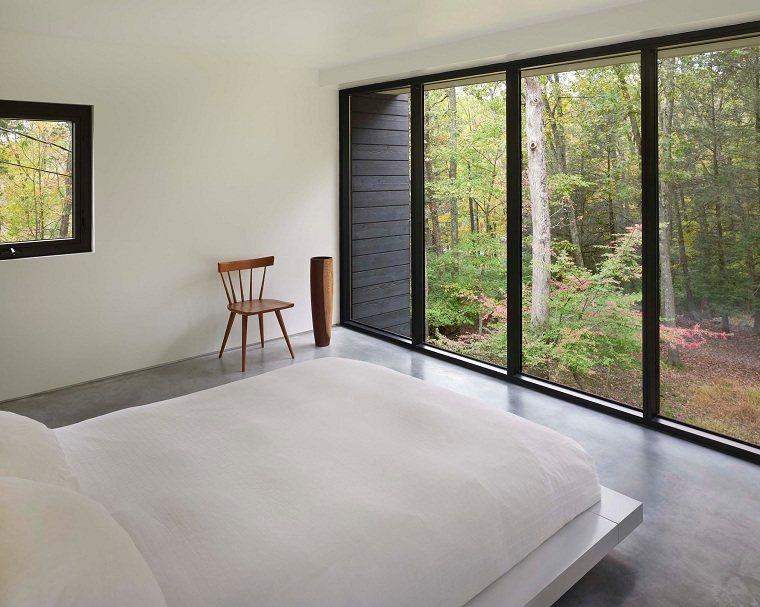 suelo gris-dormitorio-minimalista-suelo-gris