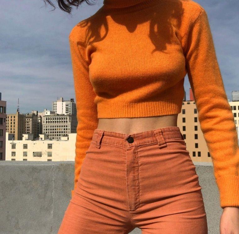 tonos naranja casual