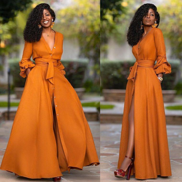 tonos naranja moda