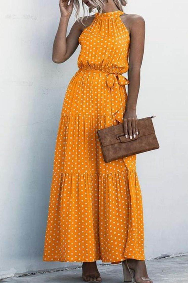 tonos naranja vestido