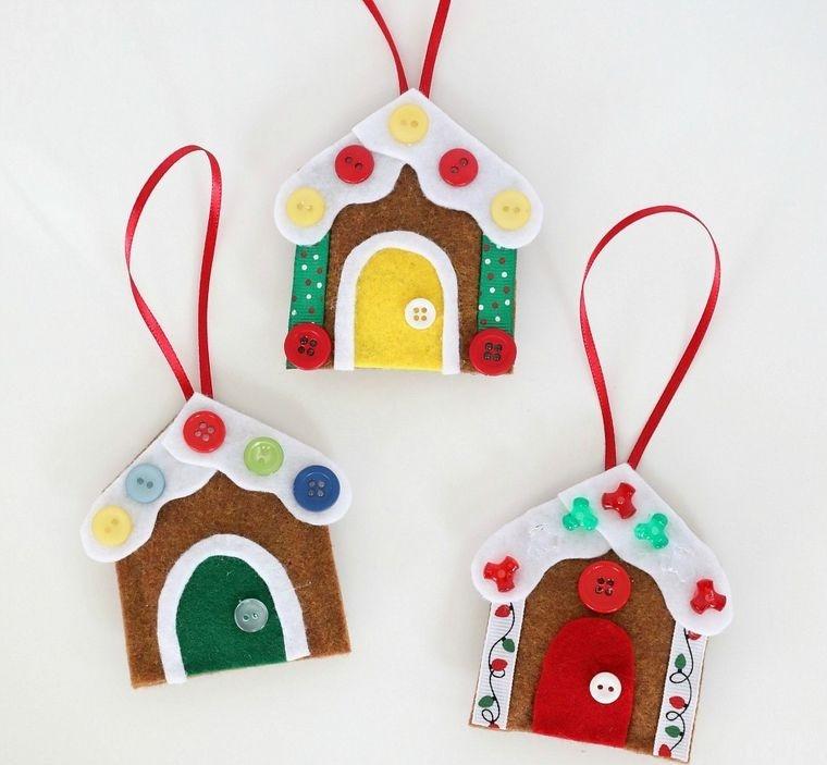 adornos navideños originales casa fieltro