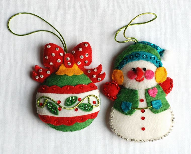 adornos navideños originales coloridos
