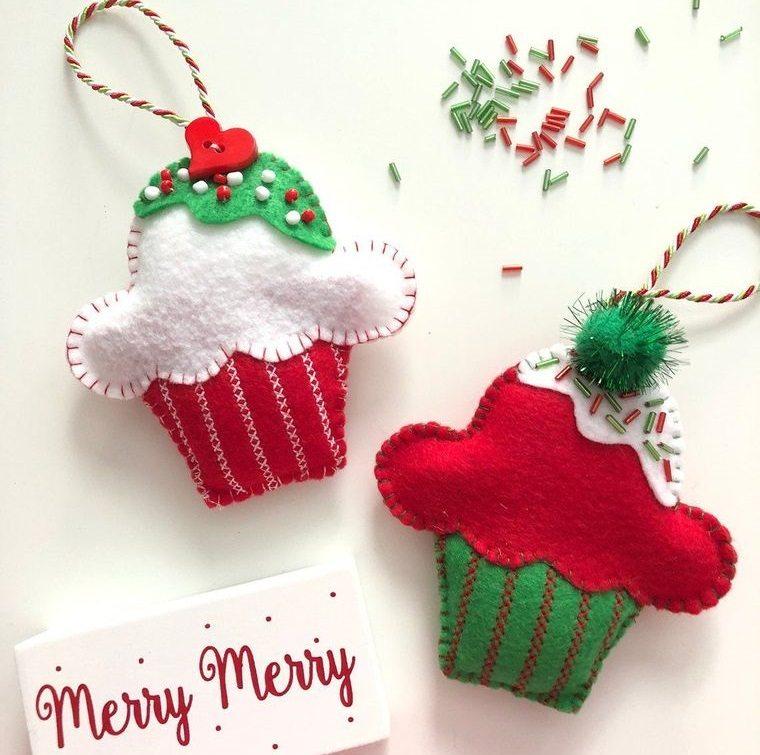 adornos navideños originales con fieltro