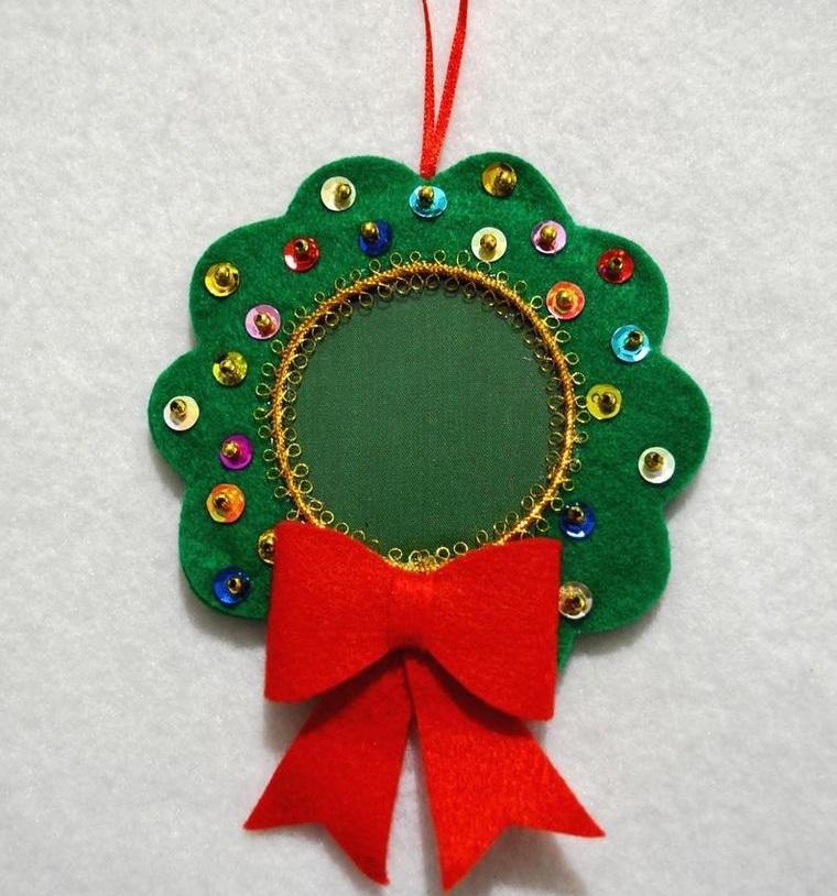 adornos navideños originales con letejuelas