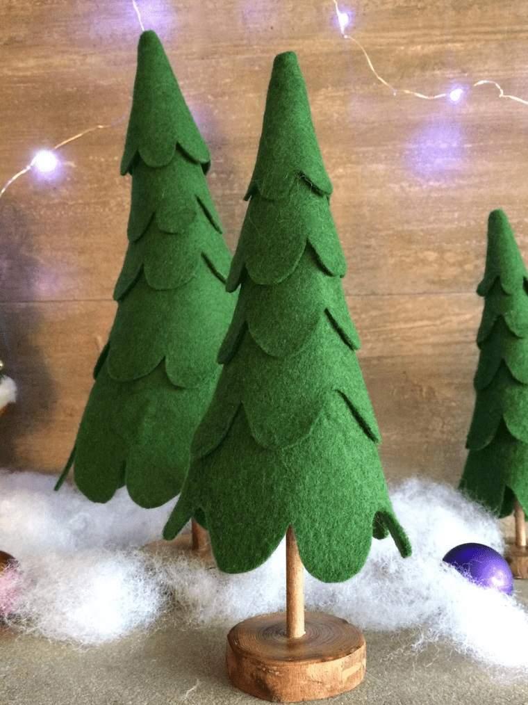 adornos navideños originales espuma con fieltro