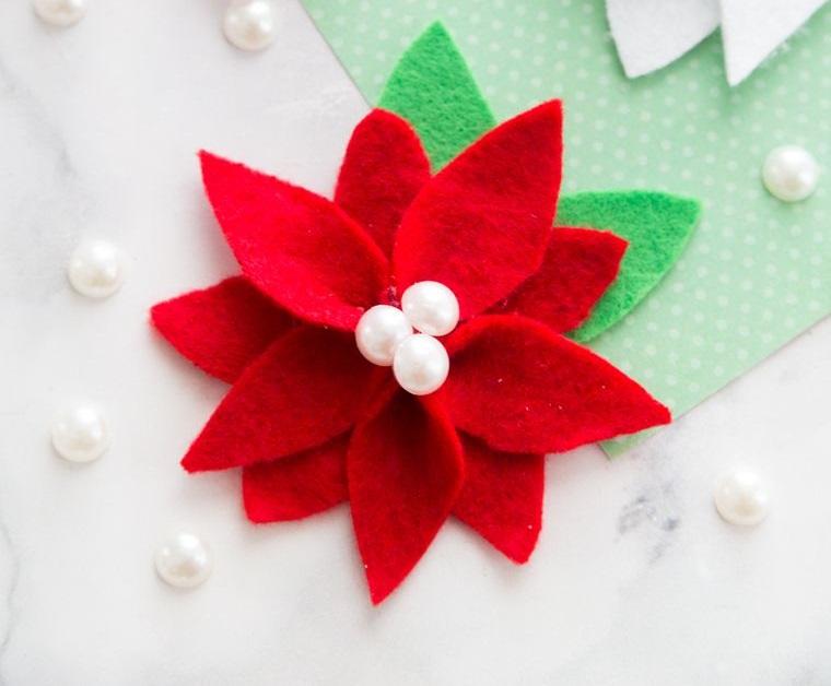 adornos navideños originales flor de pascua