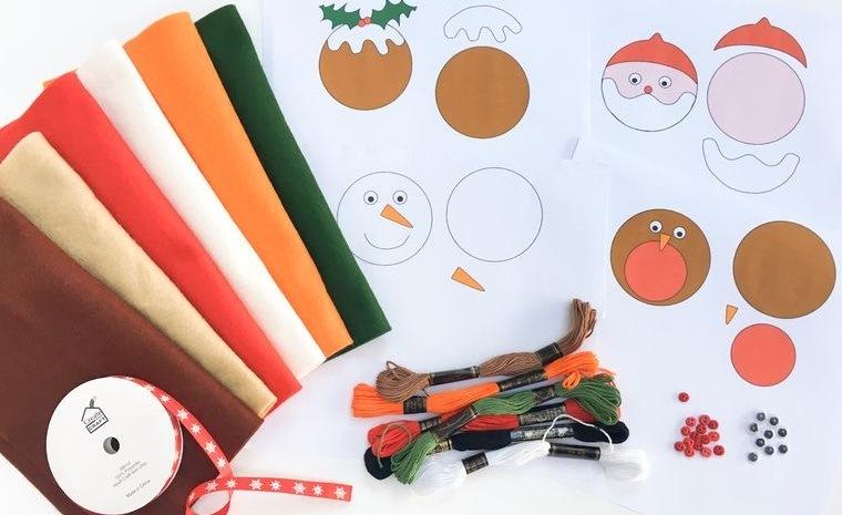 adornos navideños originales materiales