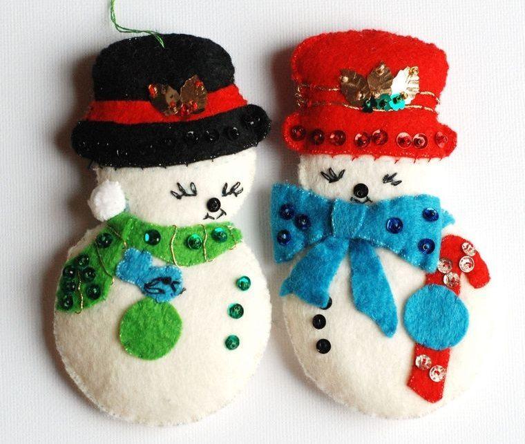 adornos navideños originales muñecos de nieve