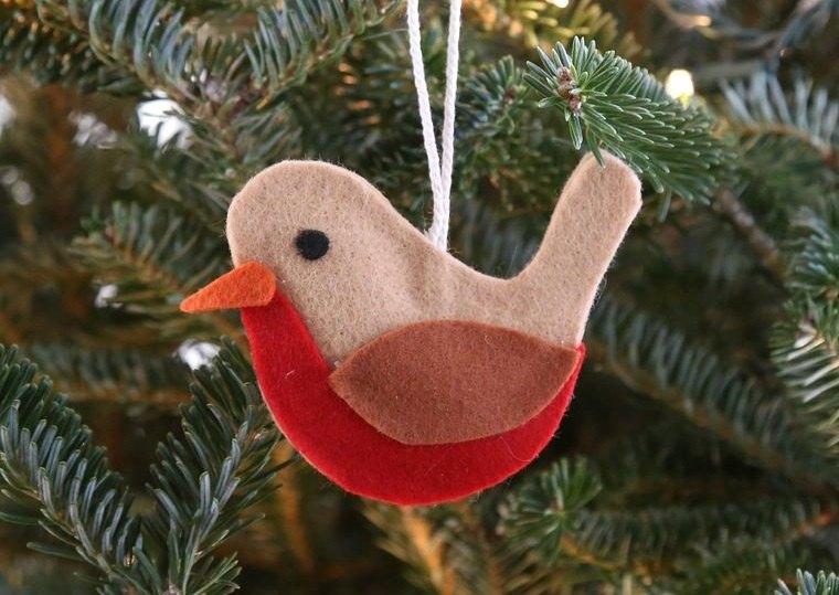 adornos navideños originales pajaro