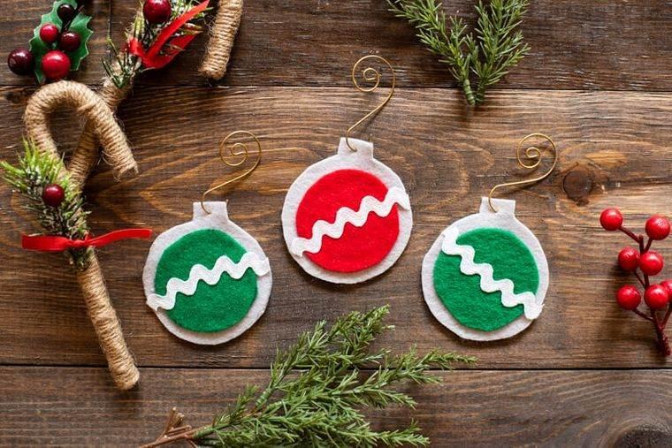 adornos navideños originales sin costura