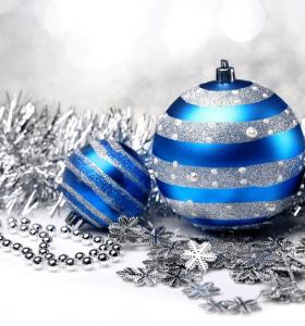 azul plateado ideas decoracion navideña