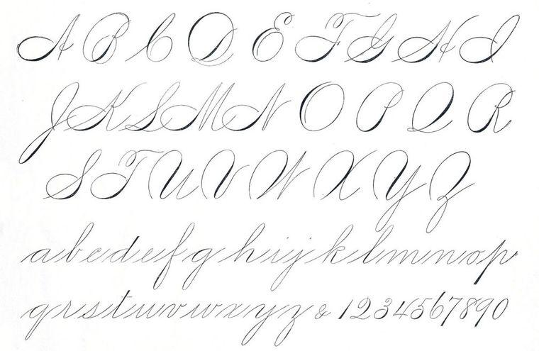 caligrafía letras redondas