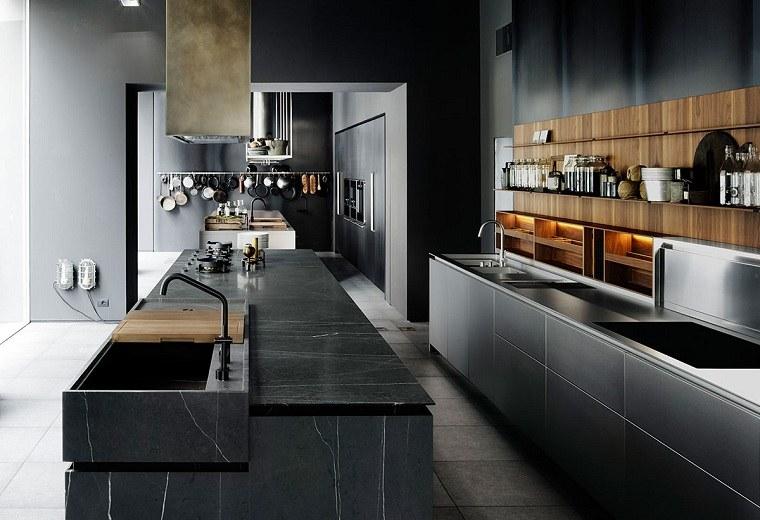 cocina-amplia-diseno-color-negro