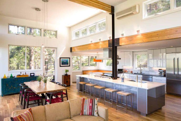 cocinas modernas amplio espacio