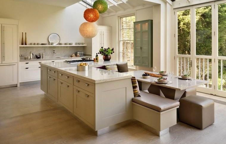cocinas modernas asientos acolchados