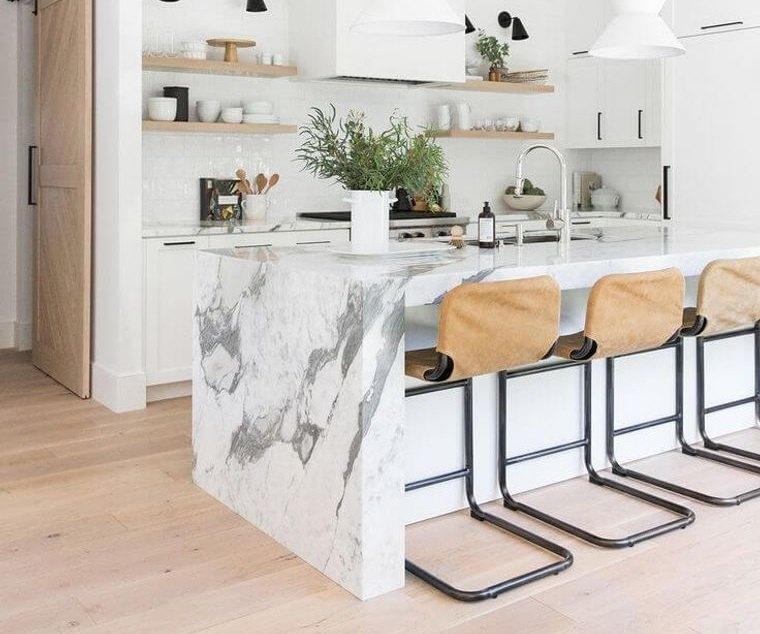 cocinas modernas asientos comodos
