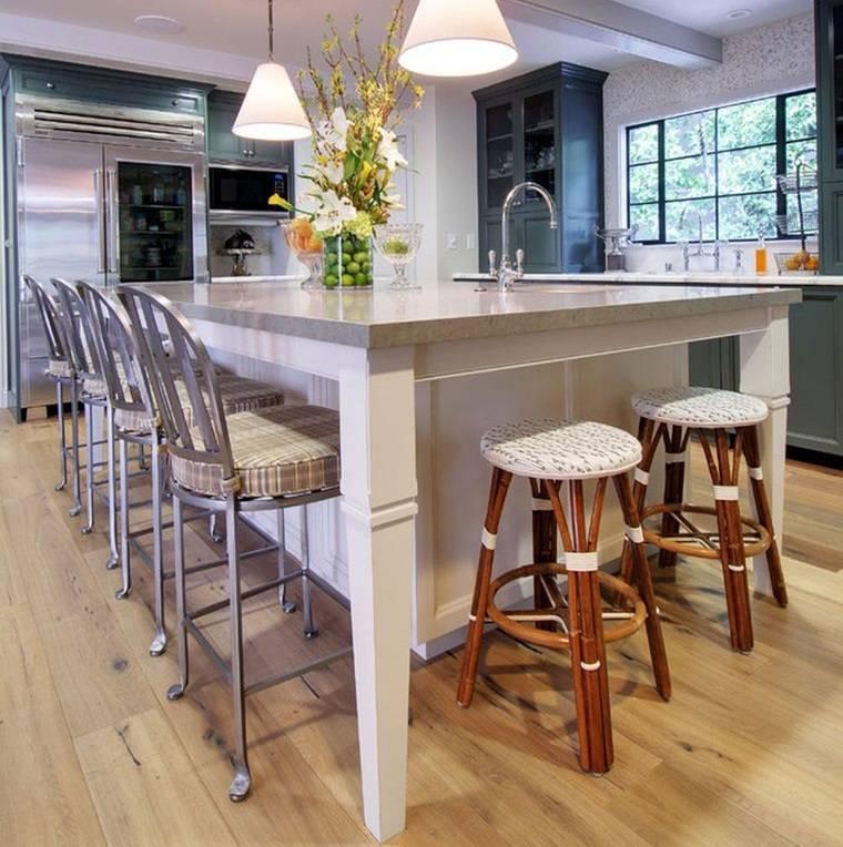 cocinas modernas asientos con estilo