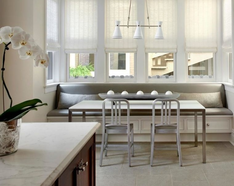 cocinas modernas asientos en ventana