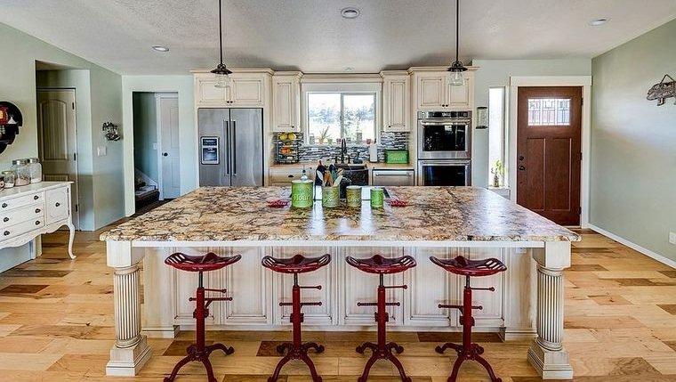cocinas modernas asientos punto focal