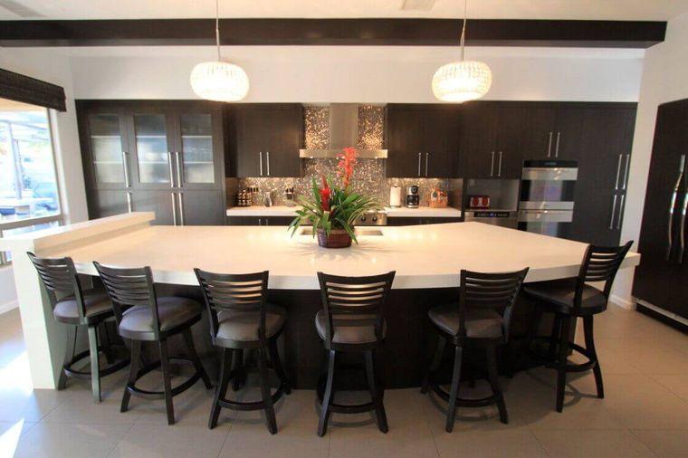 cocinas modernas asientos