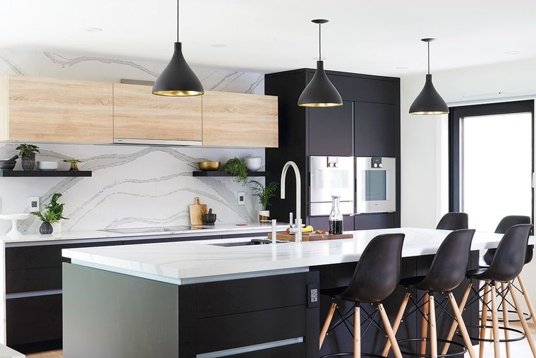 cocinas modernas con sillas modernas