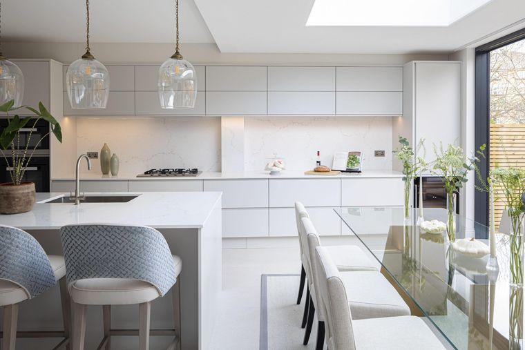 cocinas modernas en blanco