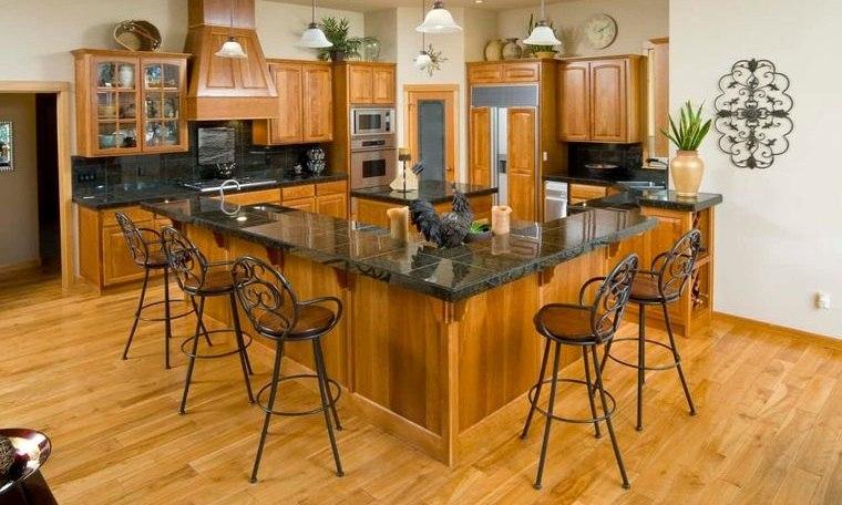 cocinas modernas sillas hierro forjado