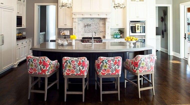 cocinas modernas sillas tapizadas
