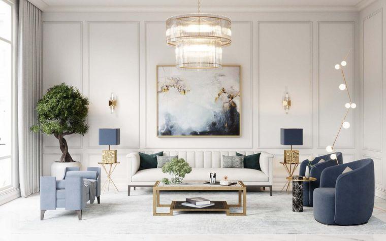 decoración de interiores con azul