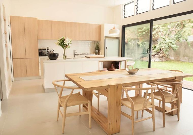 decoración de interiores madera cocina