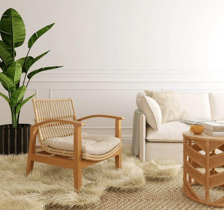 decoración de interiores materiales naturales