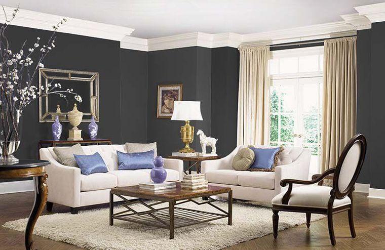 decoración de interiores tonos oscuros