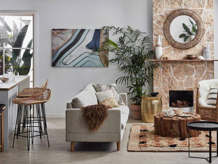 decoración de interios elementos naturales