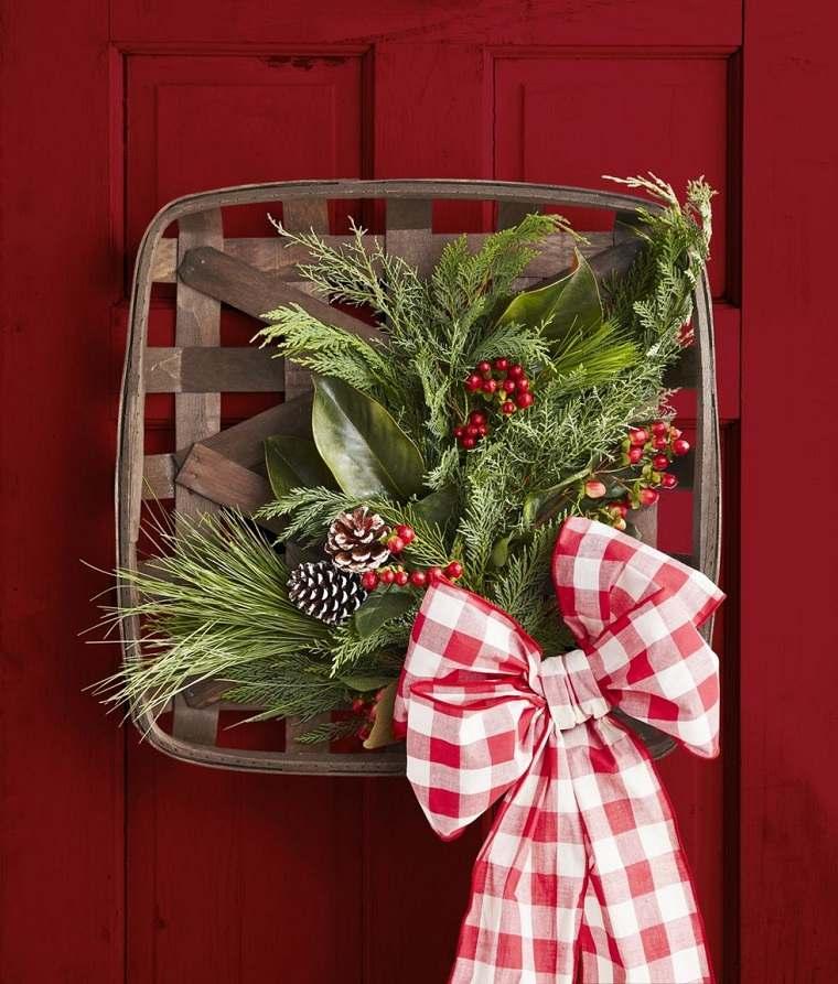 Decoraciones navideñas para puertas-cesta