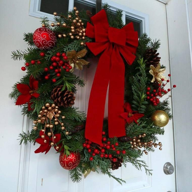 Decoraciones navideñas para puertas-clasica-corona