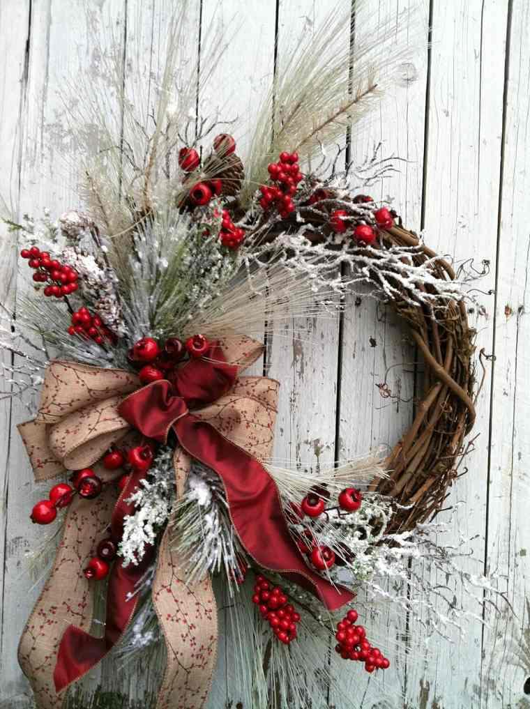 Decoraciones navideñas para puertas-clasica