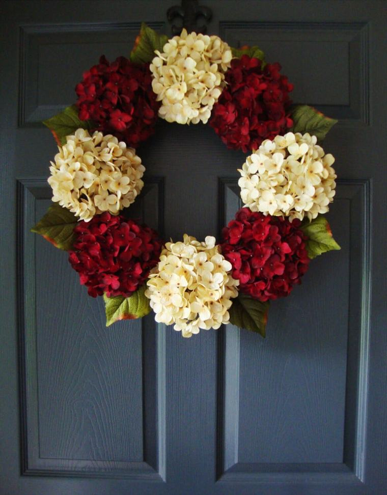 Decoraciones navideñas para puertas floral