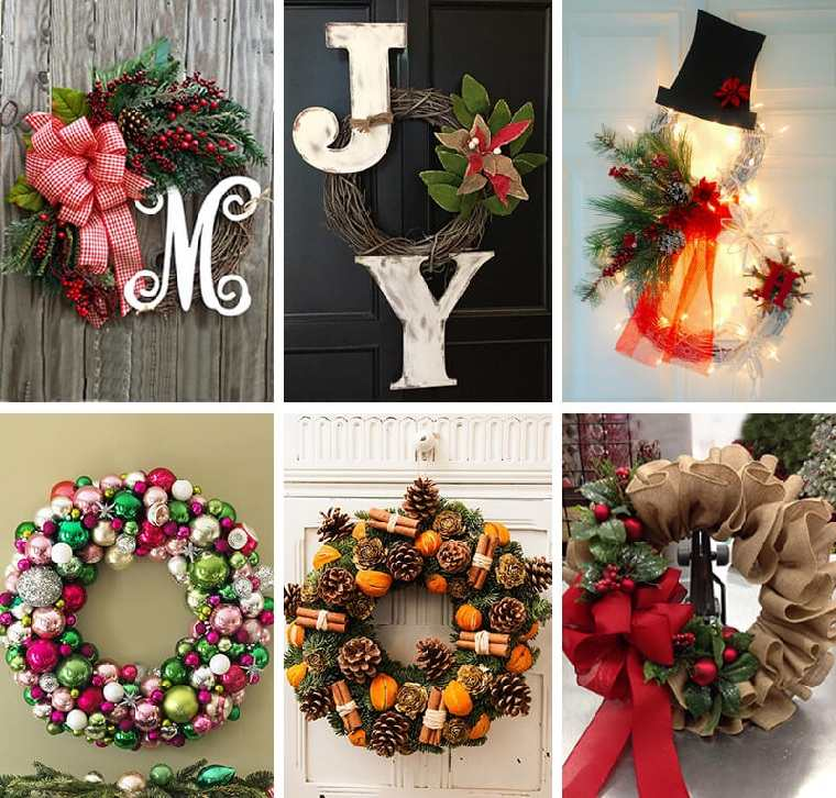 Decoraciones navideñas para puertas-ideas