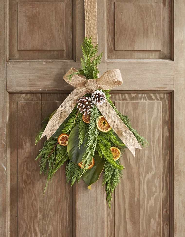 decoraciones-navidenas-para-puertas-magnolia frutos secos