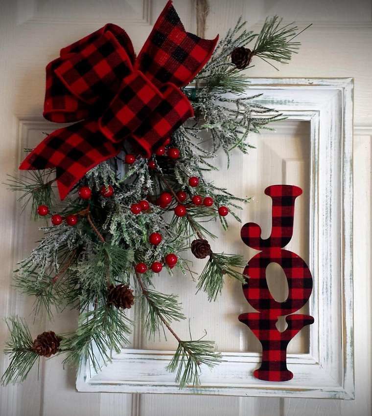 Decoraciones navideñas para puertas originales