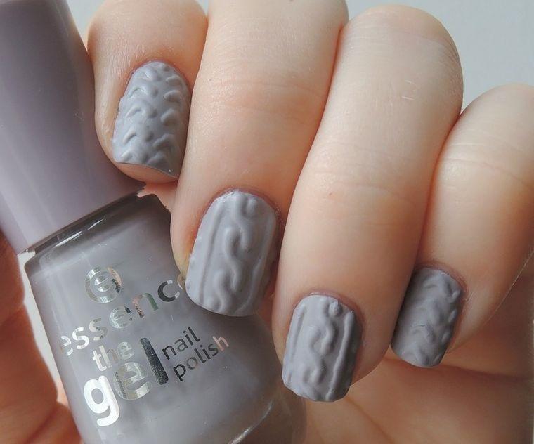 diseño de uñas color gris