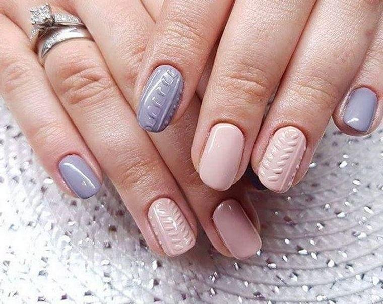 diseño de uñas dos colores