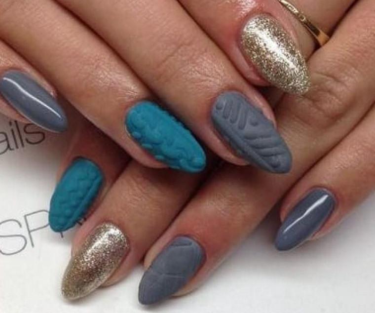 diseño de uñas mate brillo