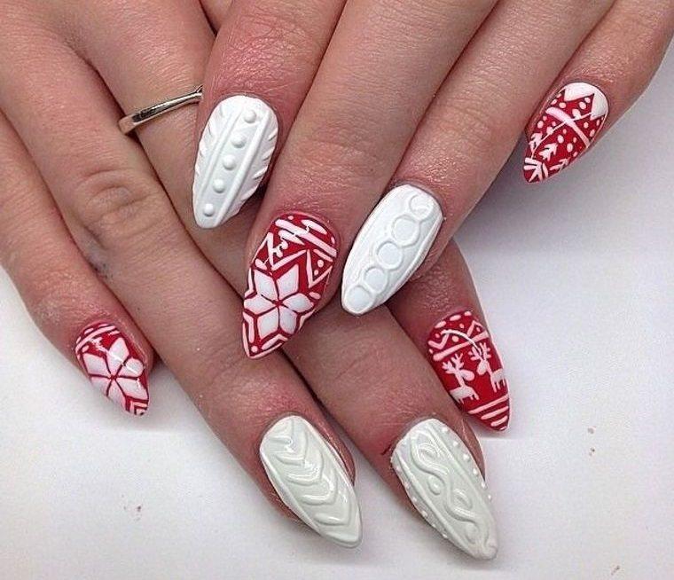 diseño de uñas motivos navidad