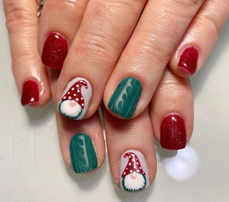 diseño de uñas navidad