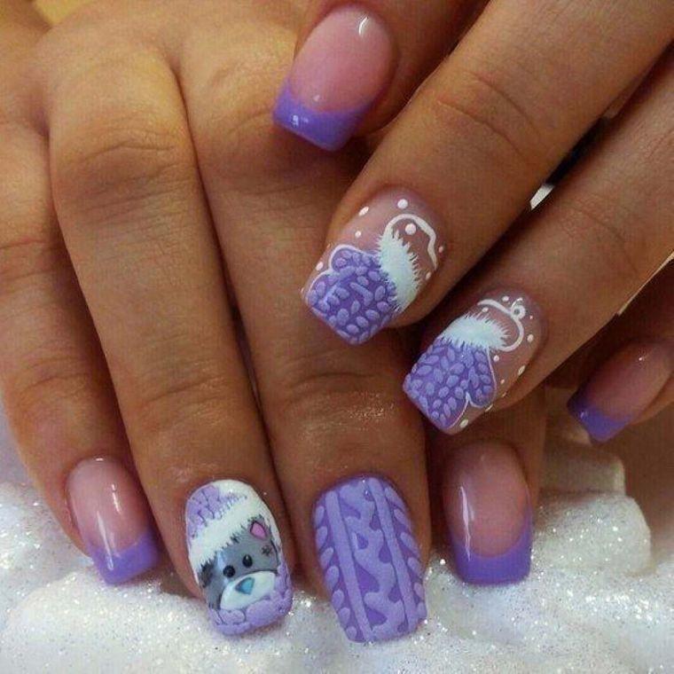 diseño de uñas navideñas