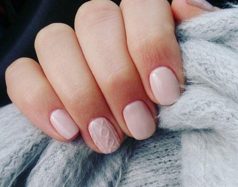 diseño de uñas rosa